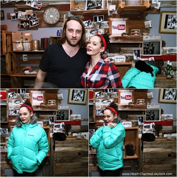 -    18/01/2014 : Rose assistant à l'évènement Youtube On Main Street à Park City.  -