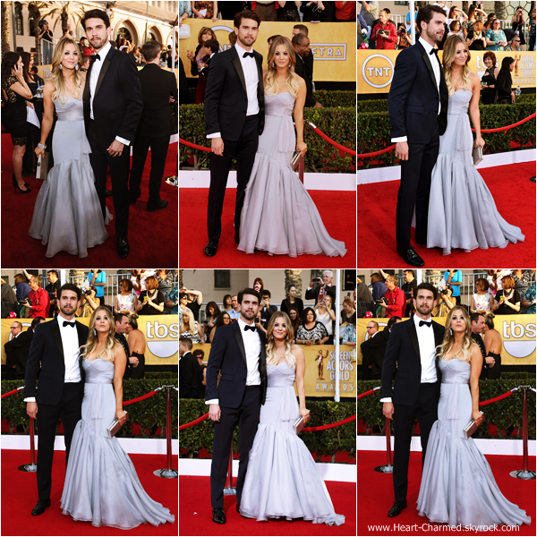 -    18/01/2014 : Kaley et son mari Ryan Sweeting assistant au 20th Annual Screen Actors Guild Awards à Los Angeles.  -
