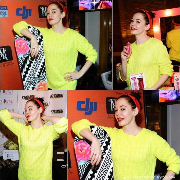 -    20/01/2014 : Rose assistant à l'after-party de White Bird In A Blizzard à Park City.  -