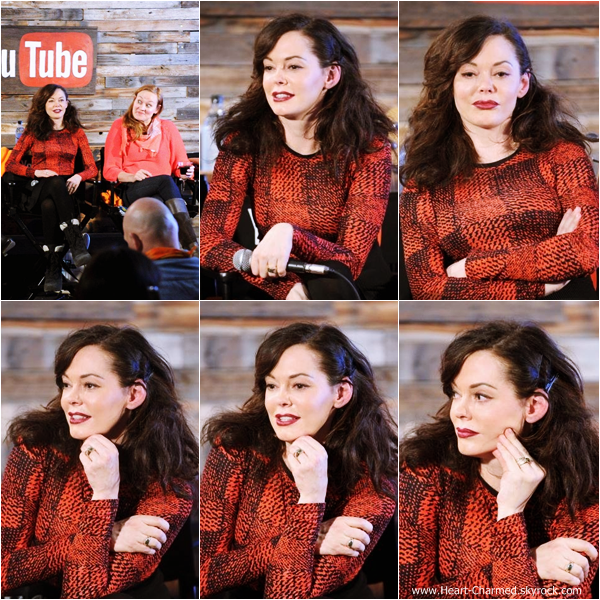 -    21/01/2014 : Rose assistant à l'événement Youtube On Main Street : Women In Film Panel à Park City.  -