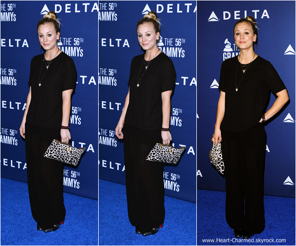 -    23/01/2014 : Kaley et son mari Ryan Sweeting assistant au Delta Air Lines 2014 Grammy Weekend Reception dans West Hollywood.  -