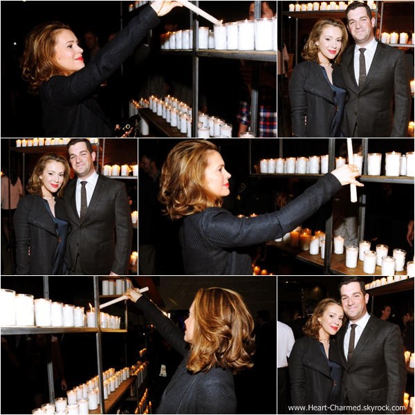 -    28/01/2014 : Alyssa et son mari David Bugliari assistant à la soirée Stands Up To Cancer à Hollywood.  -