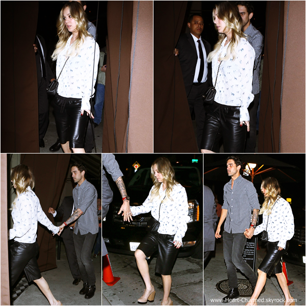 -    29/01/2014 : Kaley et son mari Ryan Sweeting quittant le restaurant Craig à Los Angeles.  -