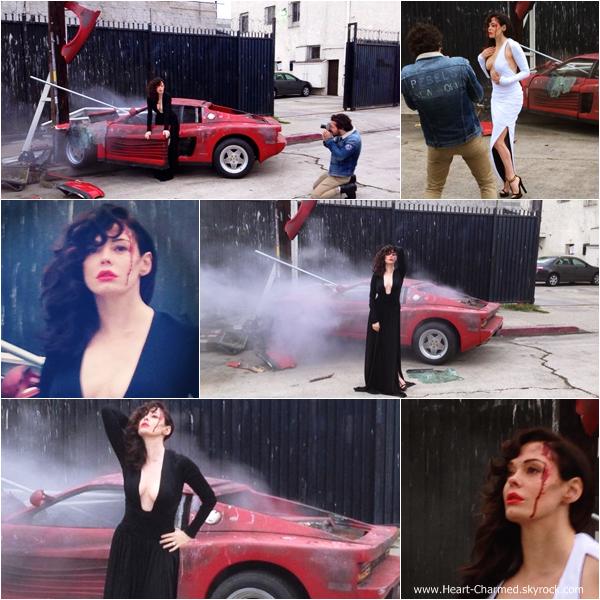 -    30/01/2014 : Rose réalisant un photoshoot dans les rues de Los Angeles.  -