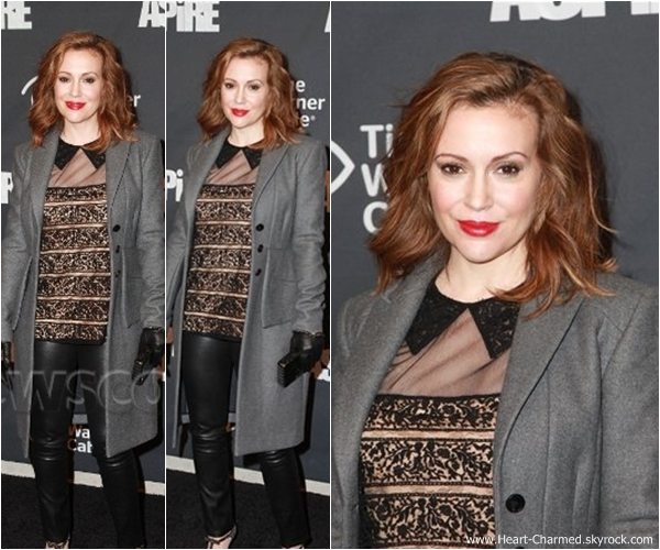 -    31/01/2014 : Alyssa assistant à la soirée Time Warner Cable Studios à New-York.  -