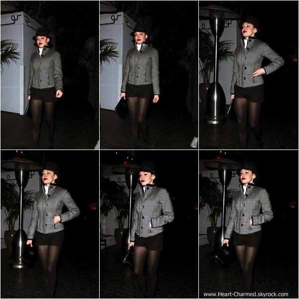 -    02/02/2014 : Rose quittant le Château Marmont à Hollywood.  -