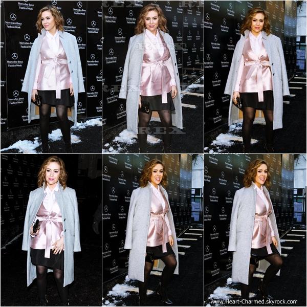 -    06/02/2014 : Alyssa se rendant au défilé Marissa Webb dans le cadre de la Fashion Week à New-York.  -