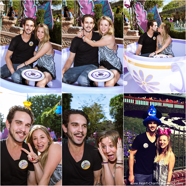 -    15/02/2014 : Kaley et son mari Ryan Sweeting au parc d'attraction DisneyLand à Anaheim.  -