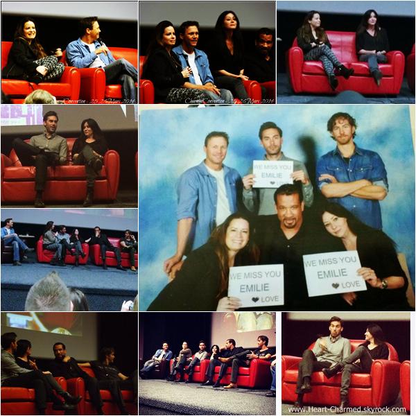 -    16/03/2014 : Shannen, Holly, Brian Krause, Drew Fuller, Dorian Gregory et Wes Ramsey assistant à la convention Charmed à Paris.  -