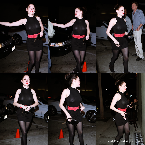 -    21/03/2014 : Rose se rendant au restaurant Craig à Los Angeles.  -