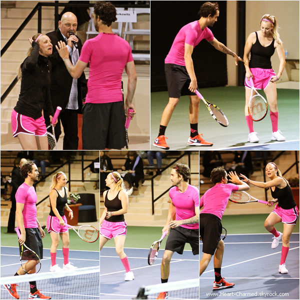 -    22/03/2014 : Kaley et son mari Ryan Sweeting assistant au The USTA Mens Pro Tennis Event à Calabasas.  -