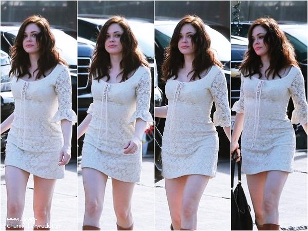 -    28/03/2014 : Rose et une amie quittant un restaurant Mexicain à Los Feliz.  -
