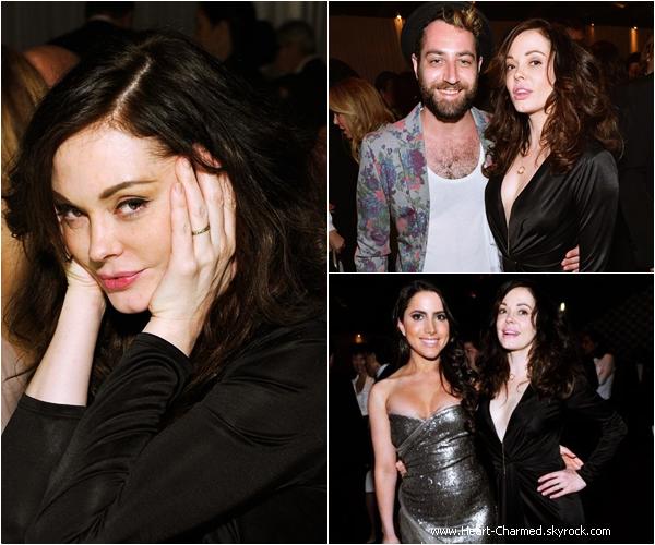 -    29/03/2014 : Rose et son mari Davey Detail assistant au 35 ans du musée MOCA à Los Angeles.  -