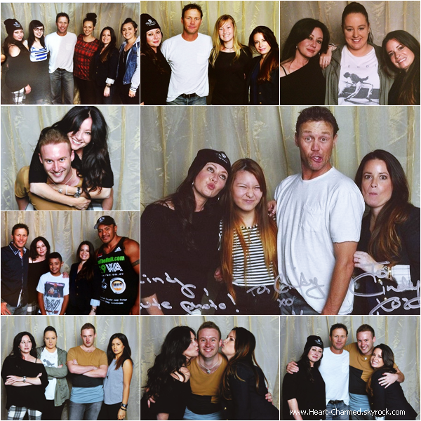 -    30/03/2014 : Shannen, Holly et Brian Krause assistant à la Convention Charmed en Australie.  -