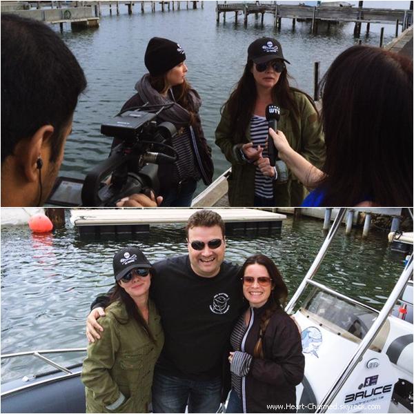 -    31/03/2014 : Shannen et Holly en bâteau avec les représentants de l'organisation Sea Sheperd en Australie.  -