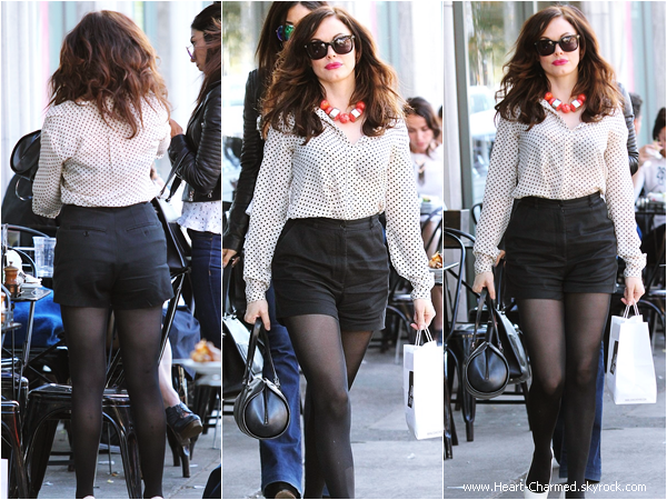 -    04/04/2014 : Rose faisant du shopping dans les rues de Beverly Hills.  -