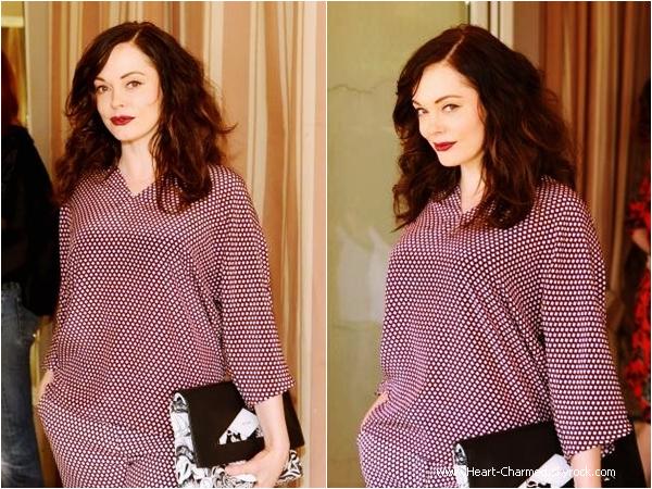 -    03/04/2014 : Rose assistant à un déjeuner organisé par Vogue à Los Angeles.  -