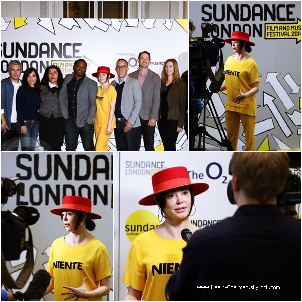 -    24/04/2014 : Rose assistant au Sundance London Film And Music Festival 2014 à Londres.  -