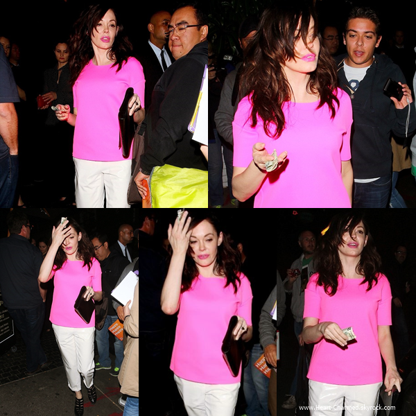 -    05/05/2014 : Rose assistant à l'after-party du film Palo Alto à Los Angeles.  -