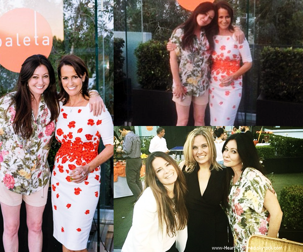 -    14/05/2014 : Shannen et Holly assistant au Eat Paleta's Raise a Glass à Los Angeles.  -