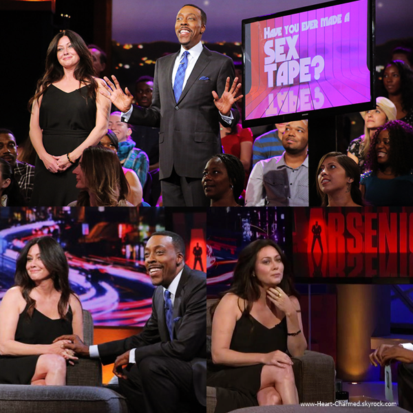 -    15/05/2014 : Shannen assistant à l'émission Arsenio Hall Show.  -