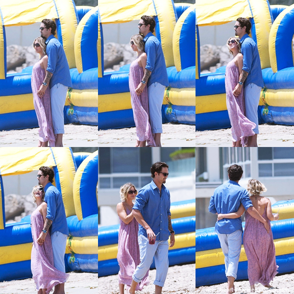 -    26/05/2014 : Kaley et son mari Ryan Sweeting célébrant le Memorial Day sur la plage de Malibu.  -