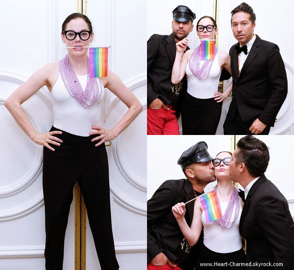 -    28/05/2014 : Rose assistant à la soirée Gay-in Cocktail Party à Beverly Hills.  -