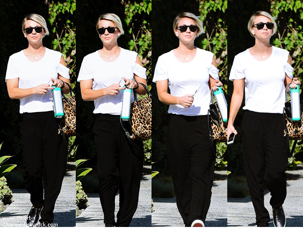 -    02/06/2014 : Kaley quittant le salon de coiffure Andy Lecompte à Beverly Hills.  -