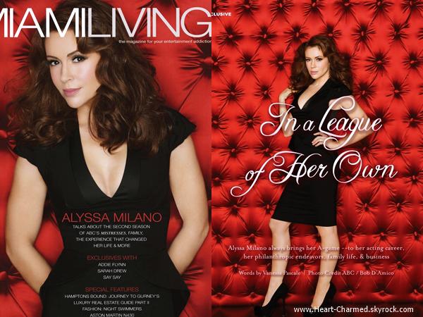 -    Miami Living Magazine : Découvrez Alyssa en couverture du magazine Miami Living pour Juillet 2014.  -