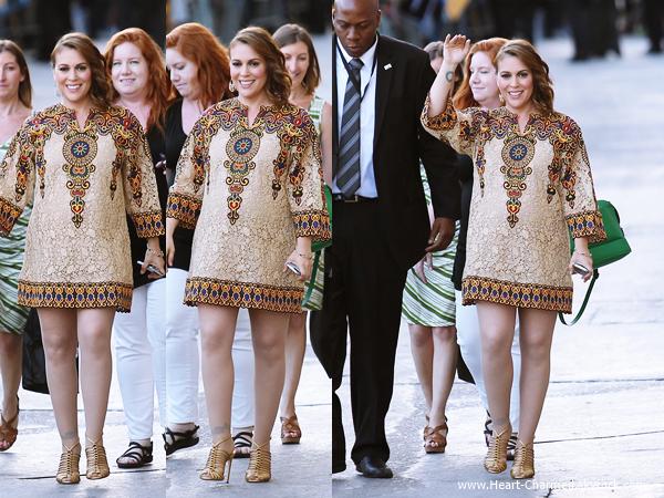 -    03/06/2014 : Alyssa arrivant aux studios de l'émission Jimmy Kimmel Live à Los Angeles.  -