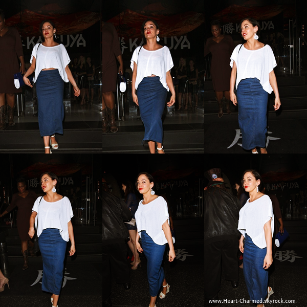 -    06/06/2014 : Rose quittant le restaurant Katsuya à Hollywood.  -