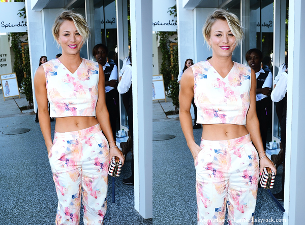 -    12/06/2014 : Kaley arrivant à l'ouverture du magasin Rebecca Taylor à Los Angeles.  -
