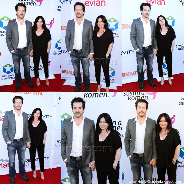 -    12/06/2014 : Shannen et son mari Kurt assistant au The Cures For Breast Cancer Event à Los Angeles.  -