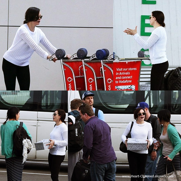 -    11/06/2014 : Rose arrivant à l'aéroport de Sydney en Australie.  -