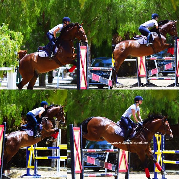 -    18/06/2014 : Kaley faisant de l'équitation à Los Angeles.  -