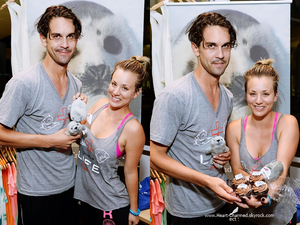 -    23/06/2014 : Kaley et son mari Ryan Sweeting assistant au Launch Of Wheels For Seals à Beverly Hills.  -