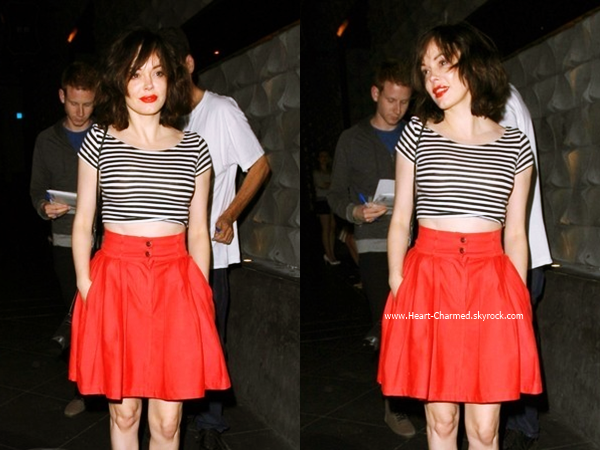 -    30/06/2014 : Rose quittant le restaurant Rivabella à Hollywood.  -