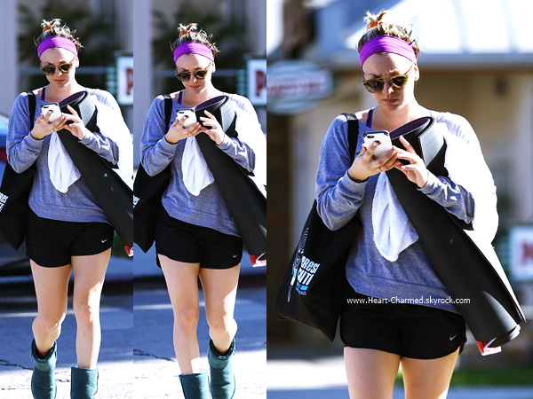 -    17/11/2014 : Kaley quittant son cours de yoga à Sherman Oaks.  -