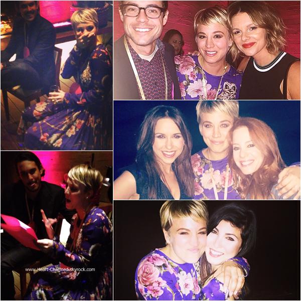 -    22/11/2014 : Kaley célébrant avec sa famille et ses amis son anniversaire à Malibu.  -