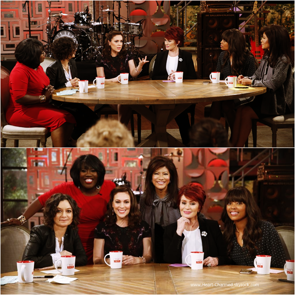 -    03/12/2014 : Alyssa sur le plateau de l'émission The Talk.  -