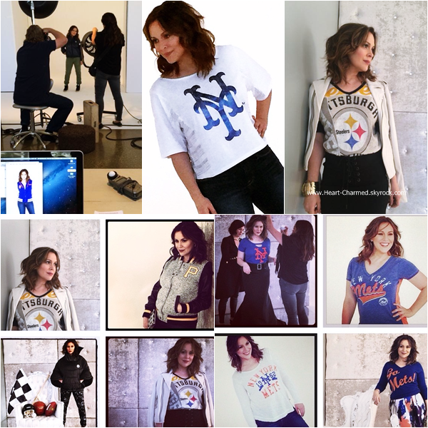 -    05/01/2015 : Alyssa sur le set d'un nouveau photoshoot pour sa collection Touch 2015.  -