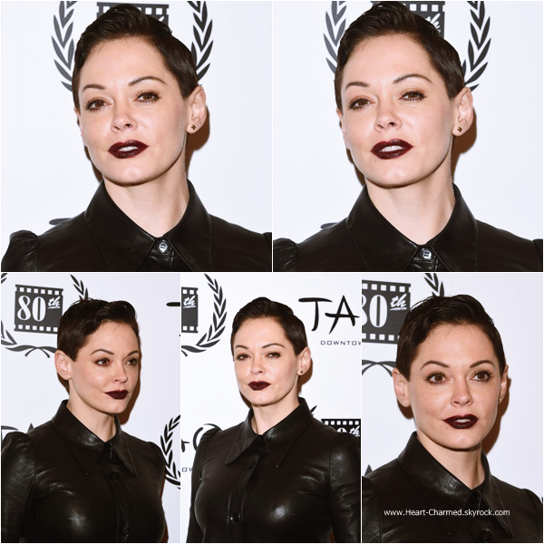 -    05/01/2015 : Rose assistant au New York Film Critics Circle Awards à New-York.  -