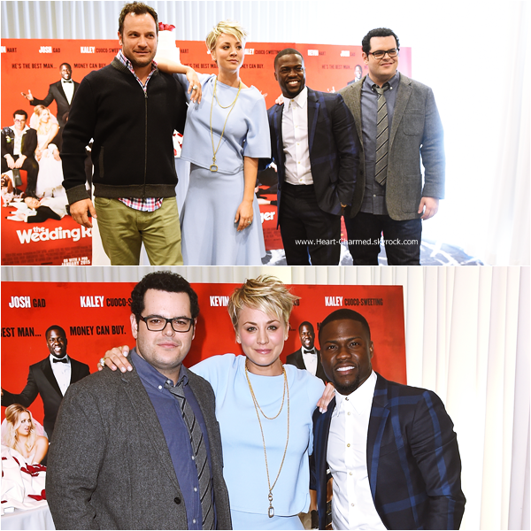 -    06/01/2015 : Kaley et ses co-stars assistant au photocall de The Wedding Ringer à Los Angeles.  -