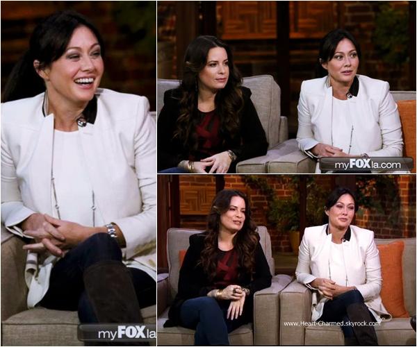 -    06/01/2015 : Shannen et Holly sur le plateau de l'émission Good Day LA dans le cadre de la promotion de leur émission Off The Map.  -