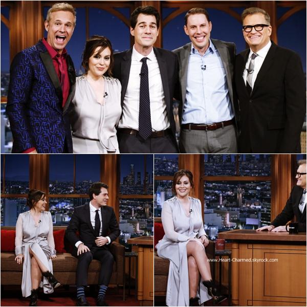 -    06/01/2015 : Alyssa sur le plateau de l'émission Late Late Show.  -