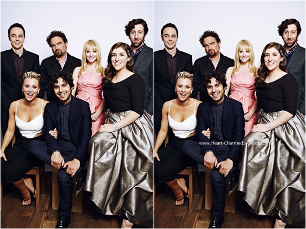 -    07/01/2015 : Découvrez les portraits de Kaley et du cast de The Big Bang Theory lors des People's Choice Awards.  -