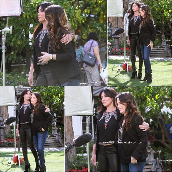 -    07/01/2015 : Shannen et Holly sur le plateau de l'émission E! News dans le cadre de la promotion de leur émission Off The Map.  -
