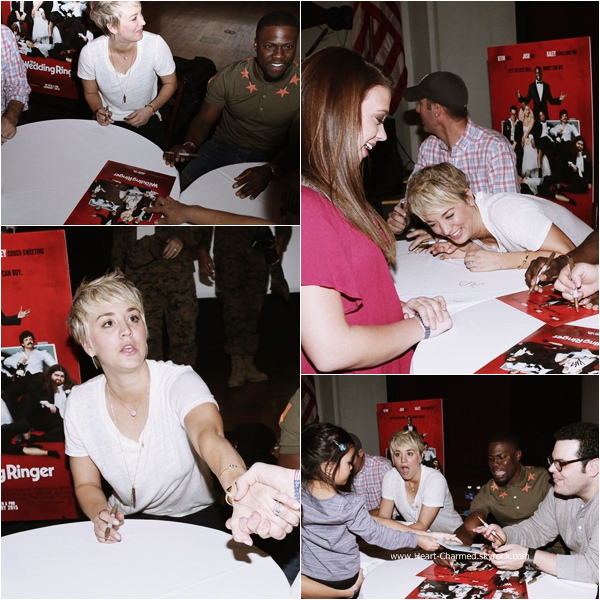 "-    10/01/2015 : Kaley et ses co-stars du film The Wedding Ringer assistant au  Special Screening Of Screen Gems' ""The Wedding Ringer"" à San Diego.  -"