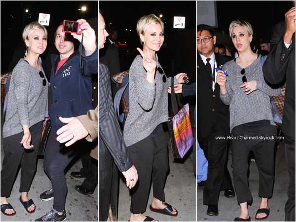 -    14/01/2015 : Kaley arrivant aux studios de l'émission Jimmy Kimmel Live à Los Angeles.  -