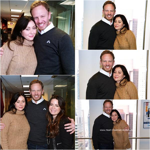 -    15/01/2015 : Shannen et Holly arrivant aux studios de la radio SiriusXM à New-York.  -